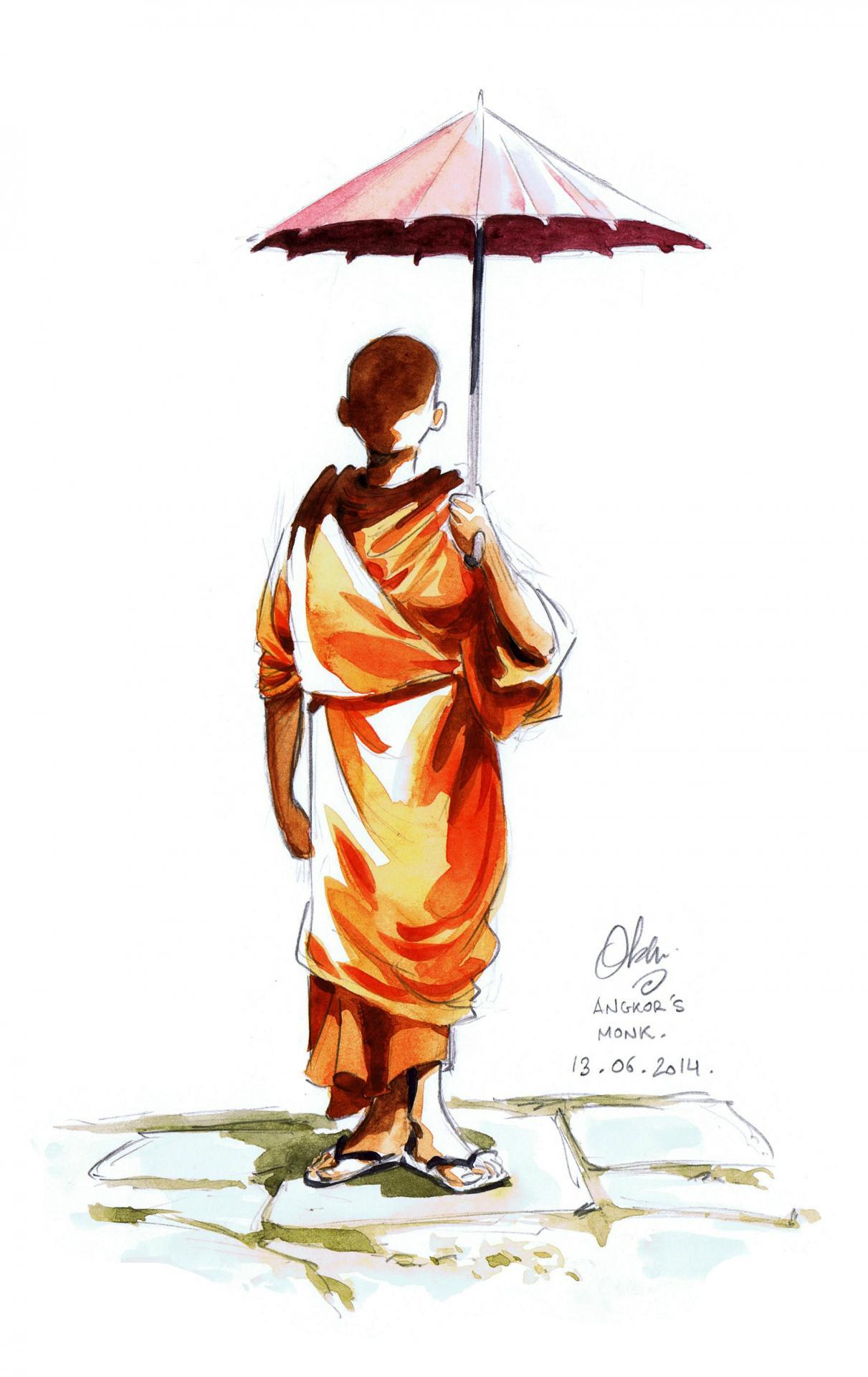 Angkor's Monk