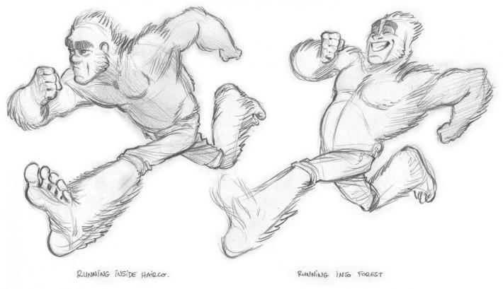 Bigfoot étude des mouvements