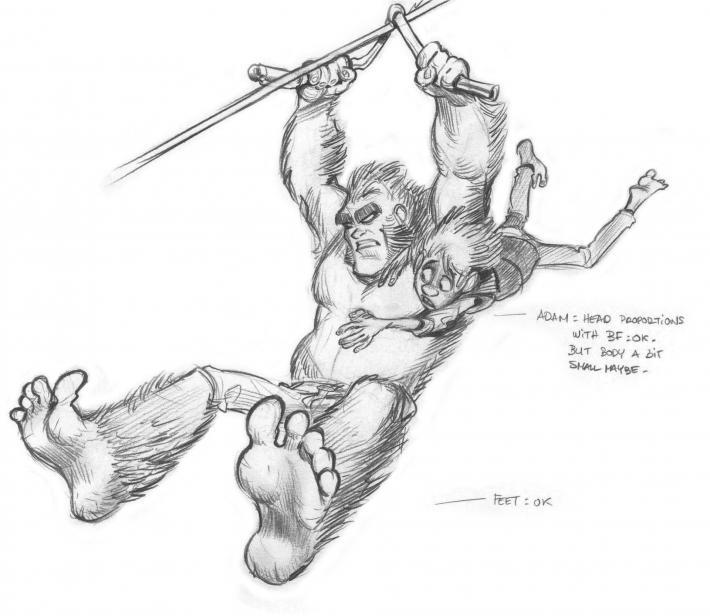 Bigfoot étude de mouvements