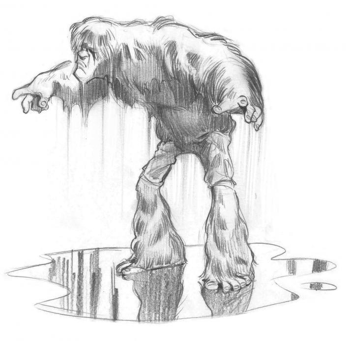 Bigfoot variation mouillée