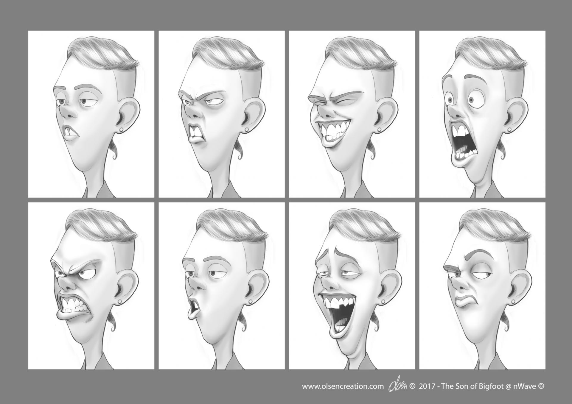 Charlie expression sheet