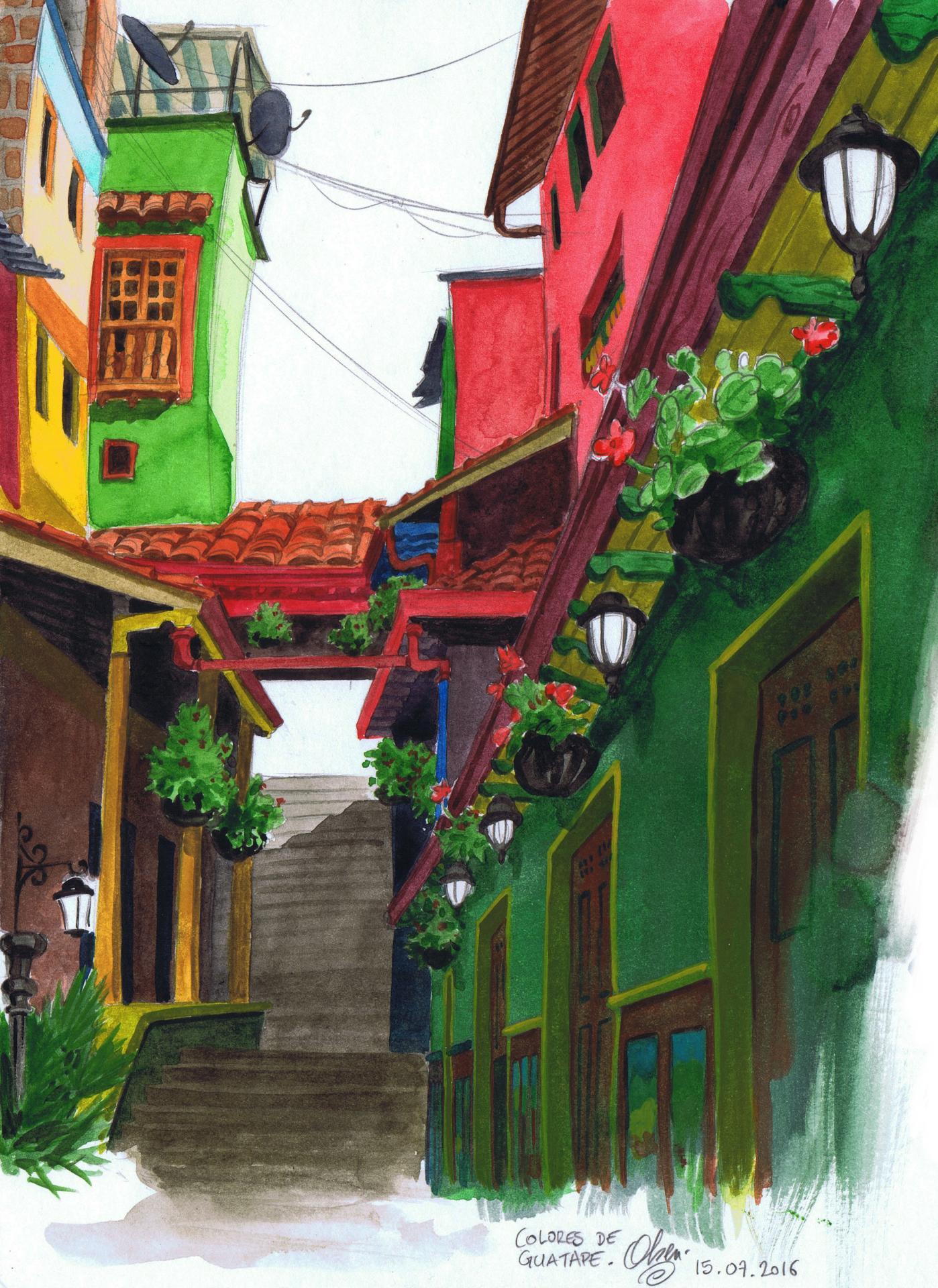 Colores de Guatape