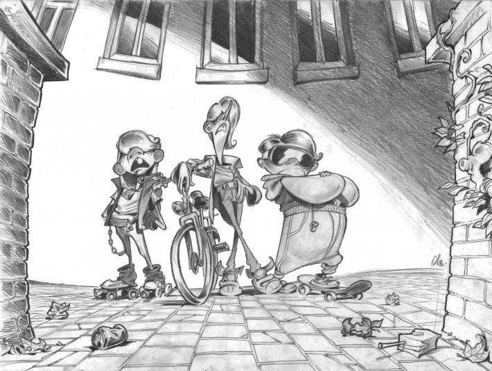 La bande à Toni - Première illustration